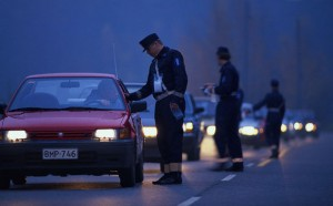 Police Checking for Drunk Drivers
